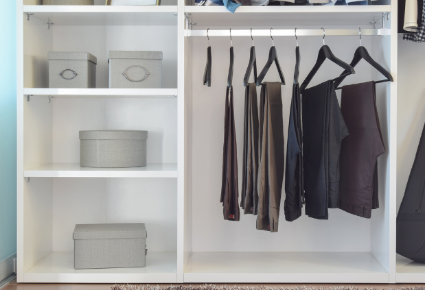 Pants That Donu0027t Wrinkle Easily (like Jeans) Can Be Folded And Stored On  Shelves Or Hanging Closet Organizers. Dress Pants And Skirts Should Be Hung  On Thin ...